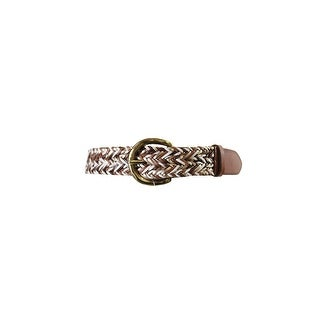 Fossil Gold Multi Woven Convertible Belt L