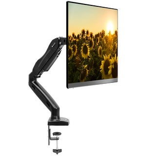 "Full Motion LCD Monitor Arm - Supports up to 27"" by Mountio - Black"