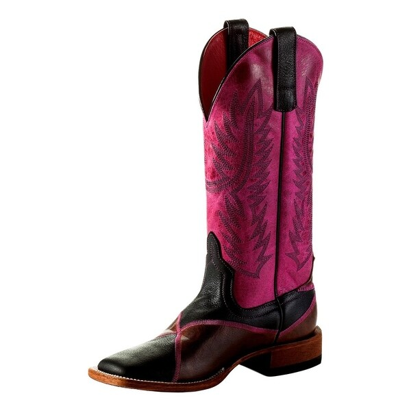 Macie Bean Western Boots Womens Think Pink Stitching Tabs Brown