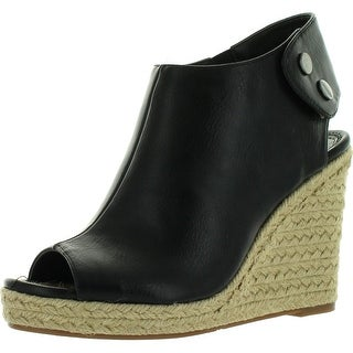 Madeline Girl Womens Metcalf Wedge Sandal - Black