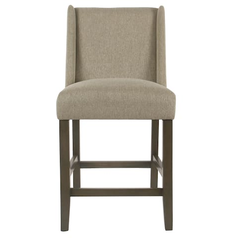 """HomePop Dinah Modern 24"""" Counter Stool - Stone - 24 inches"""