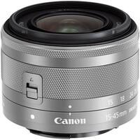 Canon EF-M 15-45mm f/3.5-6.3 IS STM Lens (Silver) (International Model)