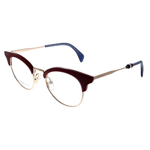 Tommy Hilfiger TH 1540 C9A 49mm Womens Red Gold Frame Eyeglasses 49mm