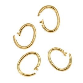 Brass Oval Lock-In Jump Rings 7x10mm 16 Gauge (4)