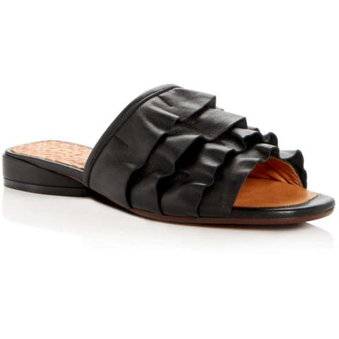 Chie Mihara Womens Volante Leather Open Toe Casual Slide Sandals