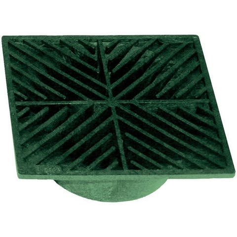 "NDS 7 Heavy Duty Square Drain Grate, 5"", Green"