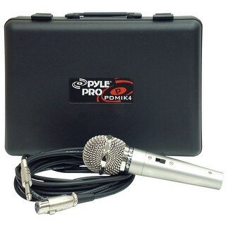 PylePro PDMIK4 Dynamic Microphone with Carry Case