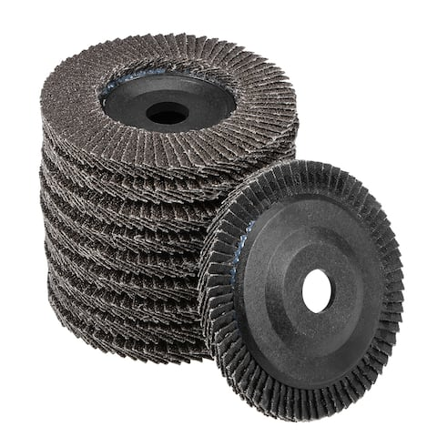 4 Inch Flap Disc 60 Grits Grinding Wheels Sanding Discs Abrasive Papers 10 Pcs - Flap Wheel - Pack of 10