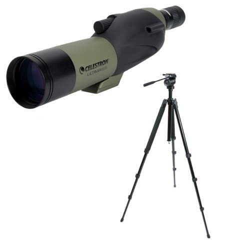 Celestron Ultima 65mm Spotting Scope w/ Eyepiece & TrailSeeker Tripod