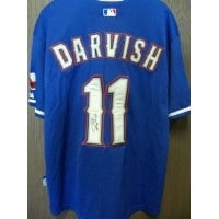 sale retailer 3ffac 7d7cc Signed Darvish Yu Texas Rangers Chinese Majestic Texas Rangers Jersey size  50 on the back autograph