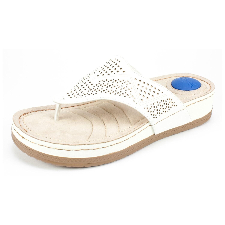Tommy Hilfiger Carma Open Toe Canvas Flip Flop Sandal' in Gold
