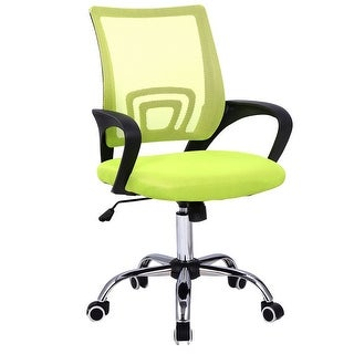 Costway Modern Mesh Mid Back Office Chair Computer Desk Task Ergonomic  Swivel Green
