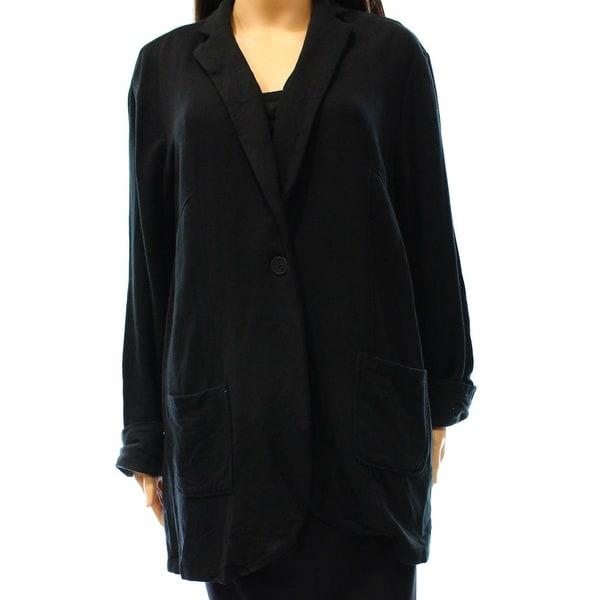 H by Bordeaux Plus Single Button Fleece Lined Jacket