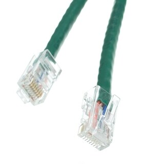 Offex Cat5e Green Ethernet Patch Cable, Bootless, 10 foot