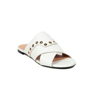 Robert Clergerie Women's 'Gavale' Leather Slide Sandal Shoes White
