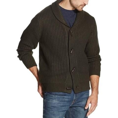 Weatherproof Mens Sweater Green Size 3XL Knitted Shawl Collar Cardigan