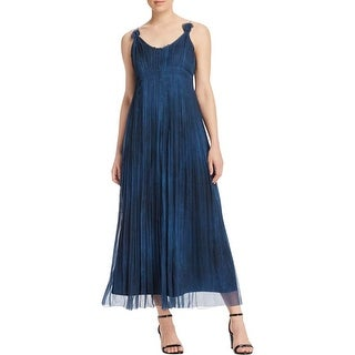 Elie Tahari Womens Opal Evening Dress Chiffon Pleated
