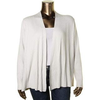 Eileen Fisher Womens Plus Cardigan Top Striped Textured