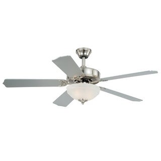 "Vaxcel Lighting F0027 Essentia 52"" 5 Blade Indoor Ceiling Fan - Light Kit and Fan Blades Included - Satin Nickel"