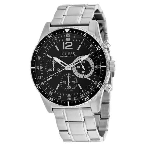 Guess Men's Launch W1106G1 Black Dial Watch