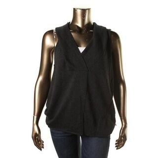 Eileen Fisher Womens Merino Wool Sleeveless Sweater Vest - XL