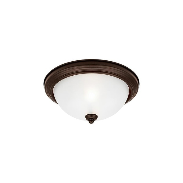 Sea Gull Lighting 77064-814 2-Light Acadia Close-To-Ceiling Fixt Misted Bronze - Bronze Finish