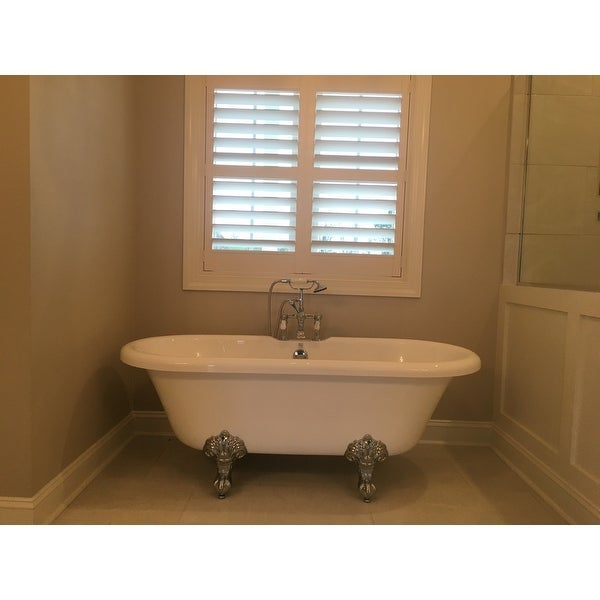 Shop Vintage Collection 67-inch Acrylic Dual Clawfoot Tub with 7 ...