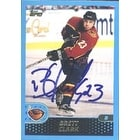 Brett Clark Atlanta Thrashers 2001 Topps Autographed Card This item comes with a certificate of au