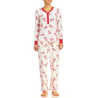 PJ Couture Women's Cardinals Fireside Chat Pajama Set