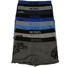 Boys 6 Pack Seamless Tiger & Dragon Boxer Briefs (3 options available)
