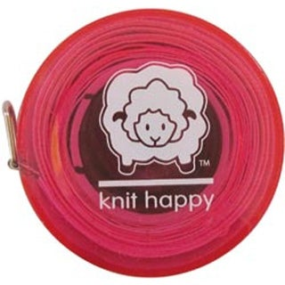 """Pink - Knit Happy Tape Measure 60"""""""