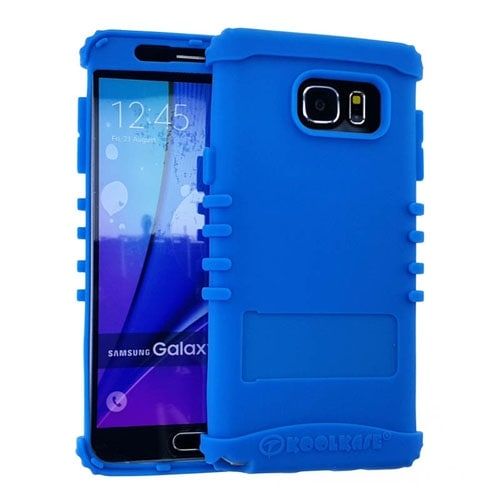 Rocker Series Silicone Skin Protector Case for Samsung Galaxy Note 5 (Light Blue