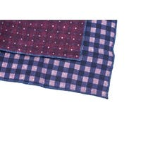 Brunello Cucinelli Red Blue Polka Dot Pure Wool Pocket Square