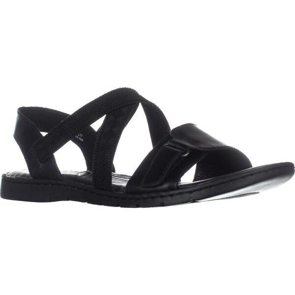 Born Britton Flats Strappy Sandals, Black