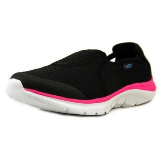 Easy Spirit Myles Women Round Toe Canvas Black Walking Shoe
