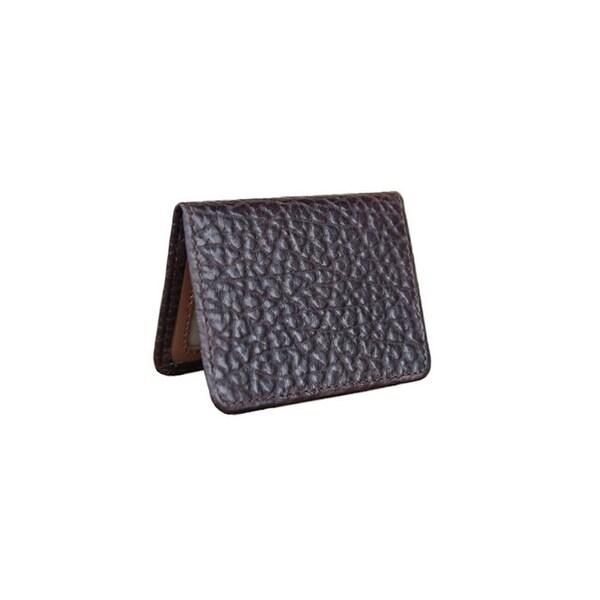Vintage Bison Western Wallet Mens Tucson Leather Stitch Brown
