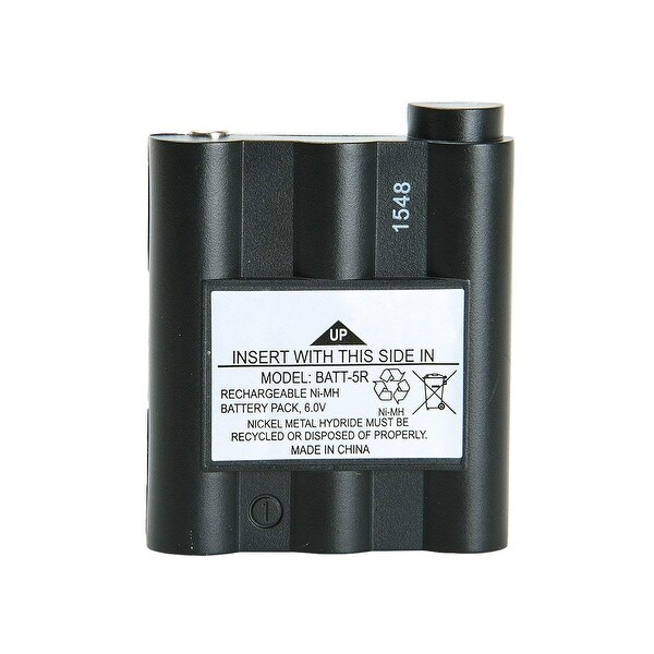 Replacement Battery For Midland GXT1050 2-Way Radios - BATT5R (700 mAh, 6V, NiMH) -