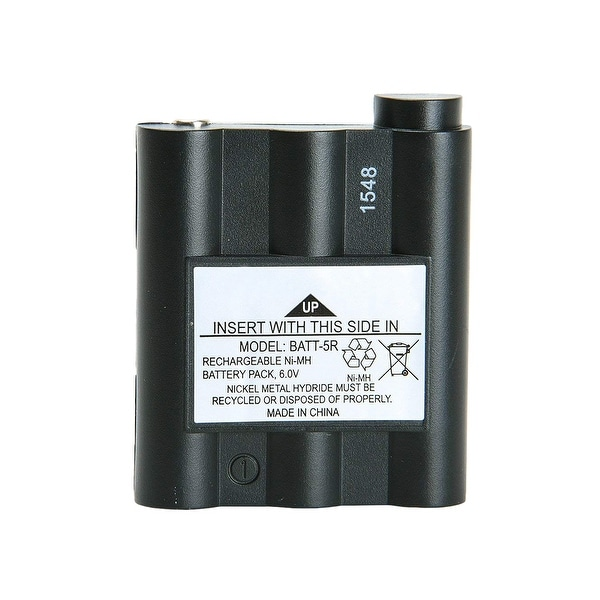 Replacement Battery For Midland GXT600 2-Way Radios - BATT5R (700 mAh, 6V, NiMH) -