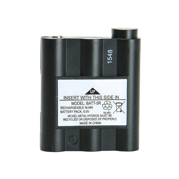 Replacement Battery For Midland HH54VP 2-Way Radios - BATT5R (700 mAh, 6V, NiMH) -