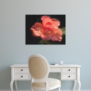 Easy Art Prints Lola Henry's 'Painterly Flower IV' Premium Canvas Art