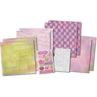 "Karen Foster Scrapbook Page Kit 12""X12""-It's A Girl"