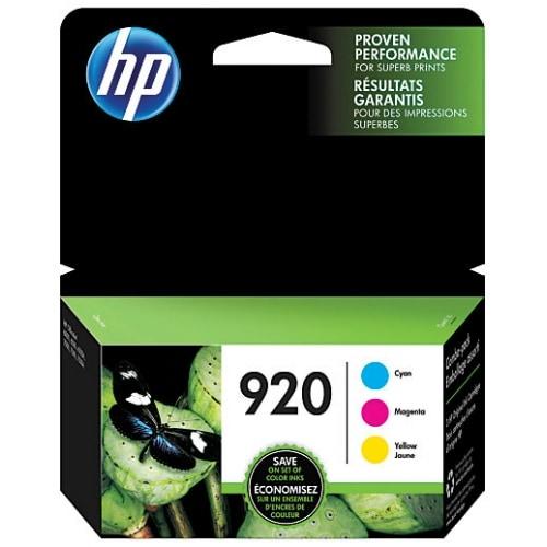 HP 920 Multi Color Original 3 Ink Cartridges (N9H55FN)(Single Pack)