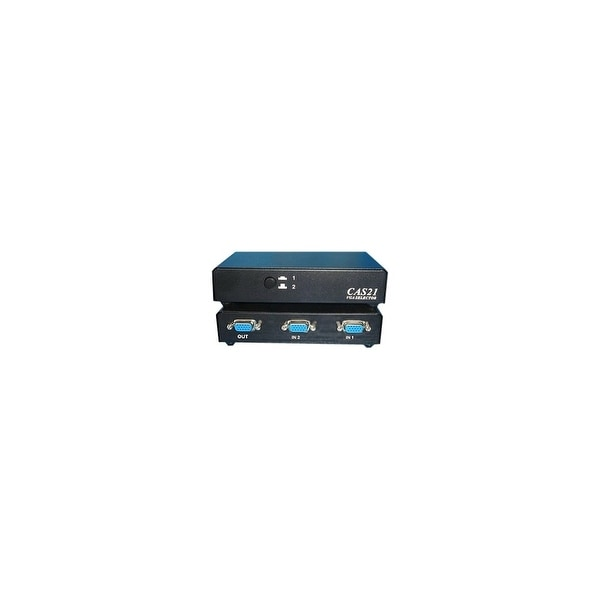 4XEM 4XVGASL2504 4XEM 2-Port VGA/SVGA Manual Switch - 1600 x 1280 - SVGA - 2 x 21 x VGA Out