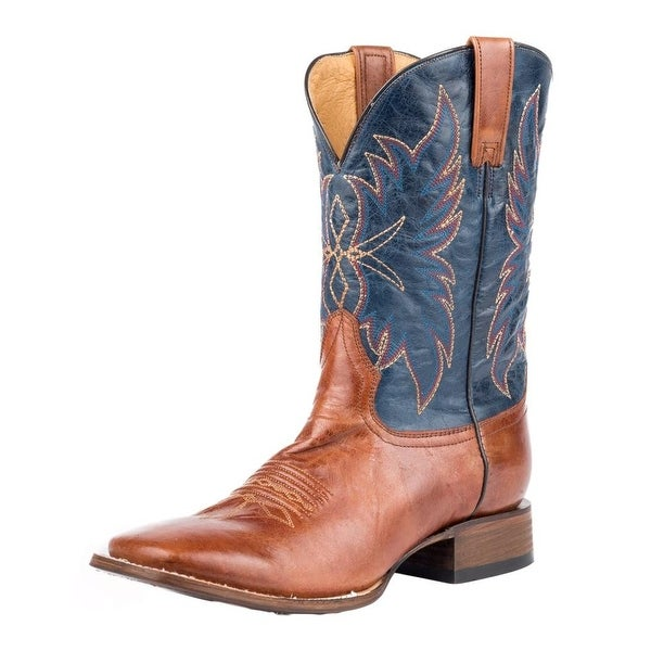 Roper Western Boots Mens Chisholm Leather Brown