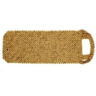 "Unique Bargains 16"" x 16"" Square Shape Gold Tone Seat Cushion Slipcover Cover Pad Mat for Auto"