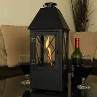 Sunnydaze Decorative Lantern Ventless Bio Fuel Tabletop Indoor Fireplace