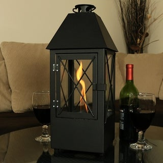 Sunnydaze Decorative Lantern Ventless Bio Fuel Tabletop Indoor Fireplace