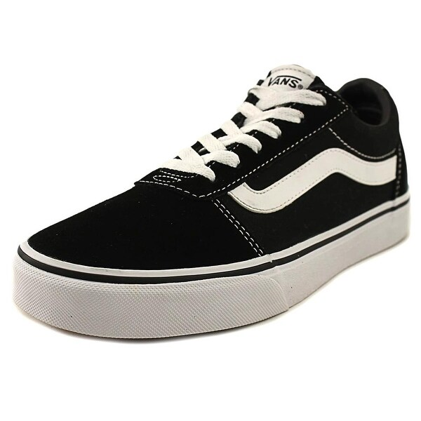 Vans Ward Women Round Toe Leather Black Sneakers