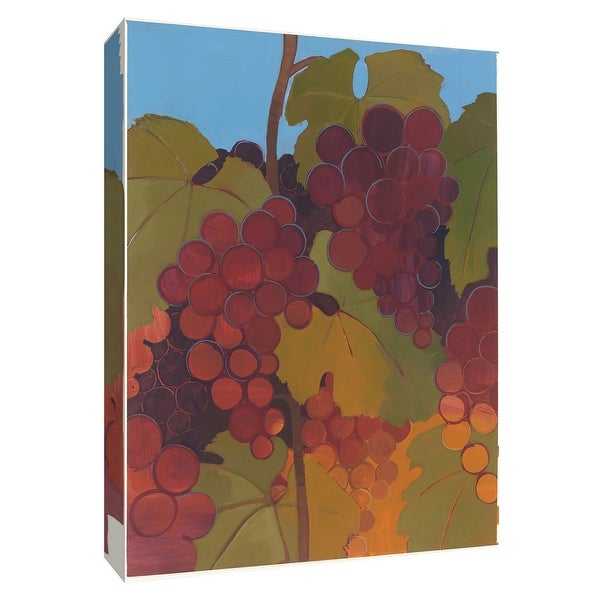 """PTM Images 9-154628 PTM Canvas Collection 10"""" x 8"""" - """"Garden Grapes III"""" Giclee Grapes Art Print on Canvas"""