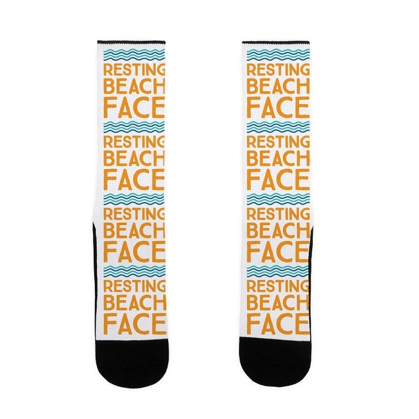 LookHUMAN Resting Beach Face US Size 7-13 Socks